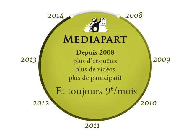 Depuis 2008, plus d'enquêtes, plus de vidéos, plus de participatif. Et c'est toujours 9€/mois