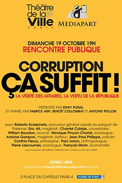 Débat sur la corruption en direct du Théâtre de la Ville