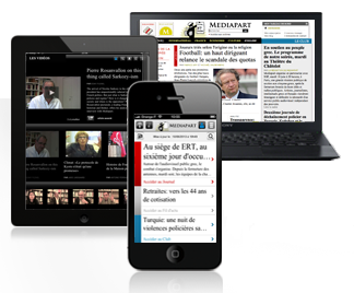 Mediapart sur web, mobile et tablette